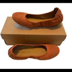 Lucky Brand Shoes - New Lucky brand echo ballet flat suede Clay size 7